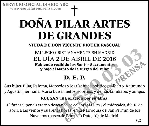 Pilar Artes de Grandes